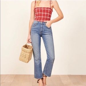 REFORMATION Ankle Kick Flare Jeans